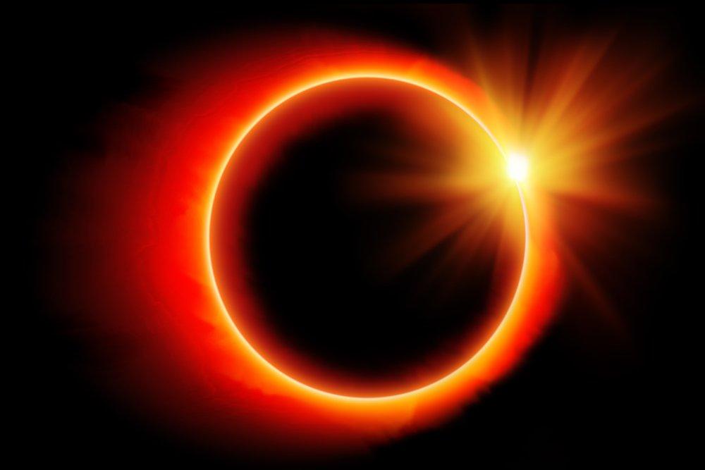 Eclipse anel de fogo (Foto: Direitos Reservados/Deposiphotos) Nesta quinta-feira (10) mais um fenômeno raro apareceu nos céus, eclipse solar conhecido como