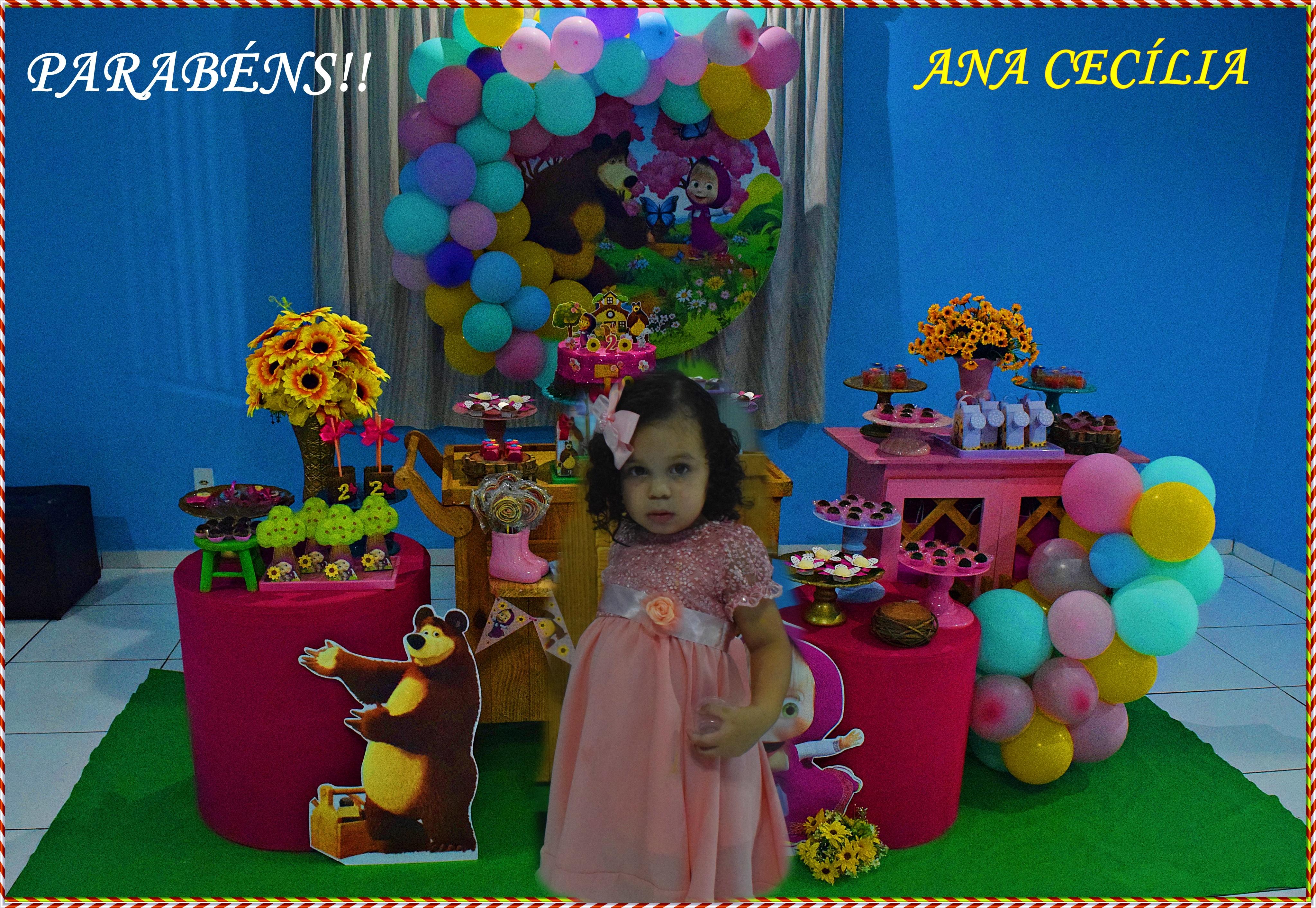 Wanderson e família comemoram juntos aniversário de dois anos da filha Ana Cecíllia